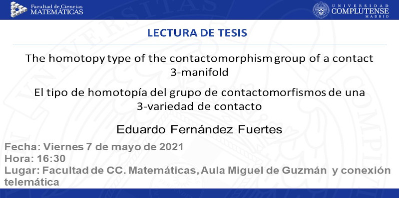 Tesis doctoral: The homotopy type of the contactomorphism group of a contact 3-manifold